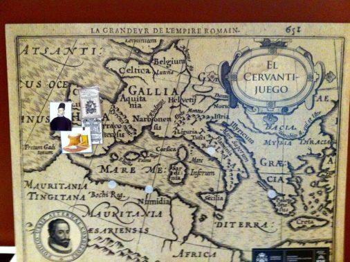 Mapa vida Cervantes