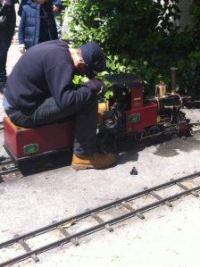 Mini máquina de vapor de tren