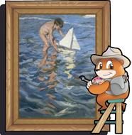 Marco Topo pintando cuadro de Sorolla