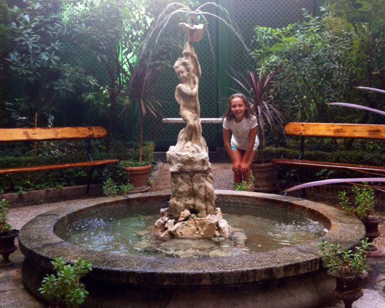 Fuente del jardín del Magnolio