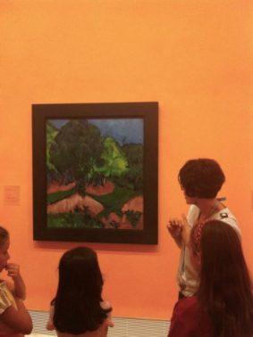 Paisaje con castaño. Ernst Ludwig Kirchner. 1913