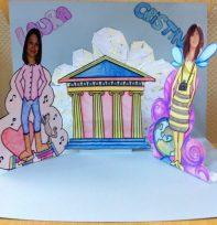 Tarjeta pop Up Laura y Cristina