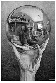 Mano con esfera reflectante© MC ESCHER. 1935