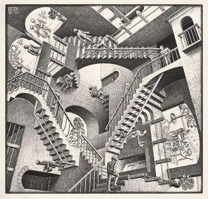Relatividad© MC ESCHER. 1953