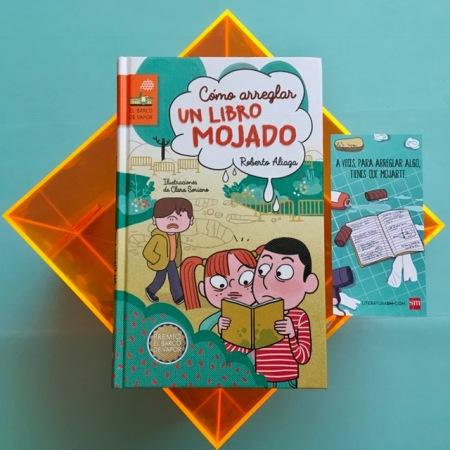 """Premio Barco de Vapor 2017 SM Editores """"Cómo arreglar un libro mojado"""""""