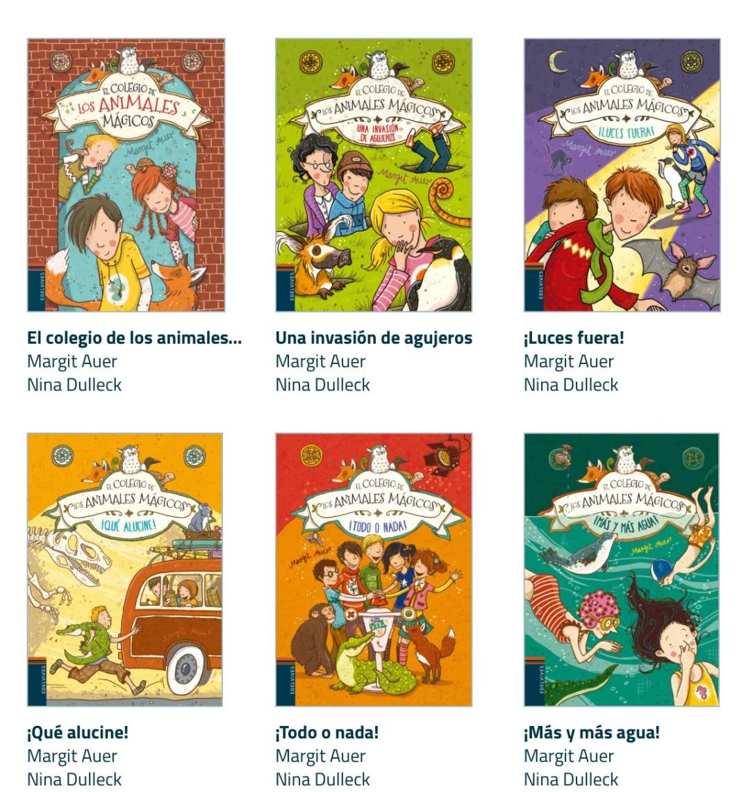 6 volúmenes colección El Colegio Mágico