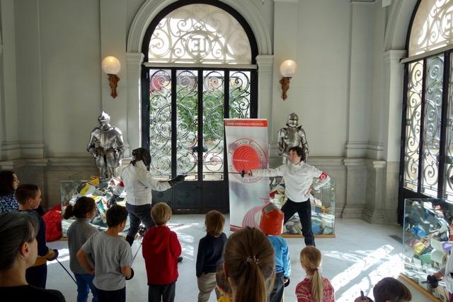 Esgrima en el Museo Lázaro Galdiano