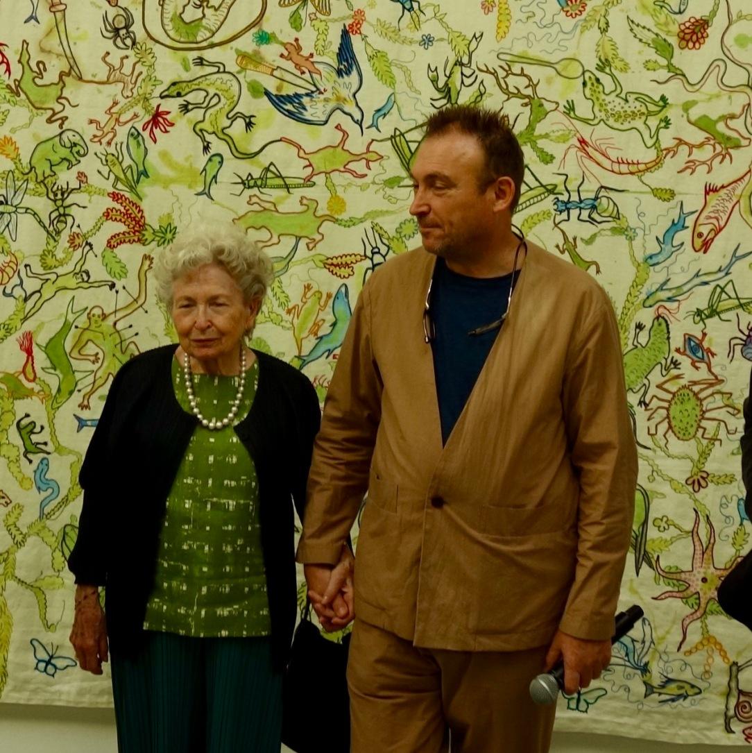 Antonia Artigues y Miquel Barceló Vivarium en el Real Jardín Botánico