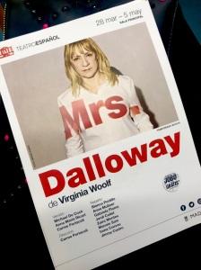 Mrs Dalloway. Teatro Español. Madrid